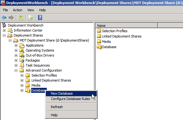 Configuration Manager and the MDT Database (1 of 5)   The