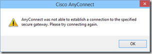 cisco anyconnect windows 10 issues